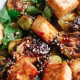 Honey Glazed Roasted Brussels Sprouts & Tofu